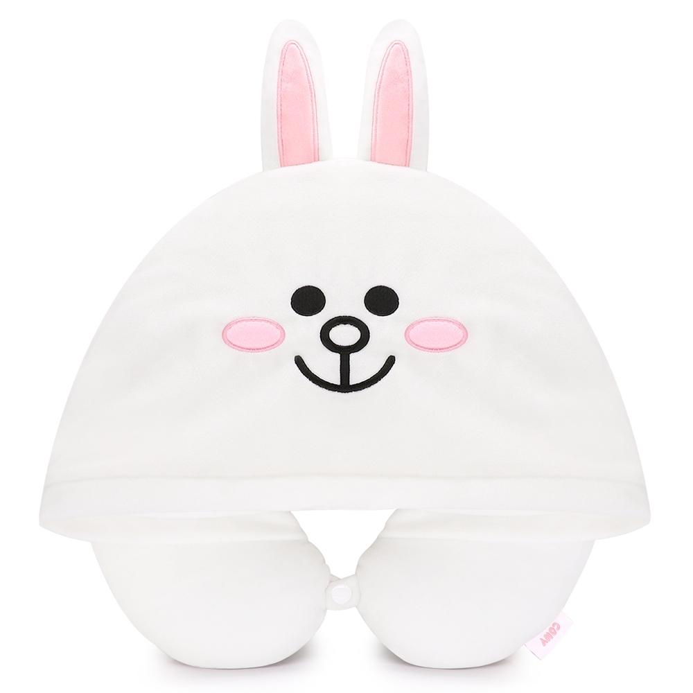 GARMMA LINE FRIENDS 連帽造型U型枕 兔兔