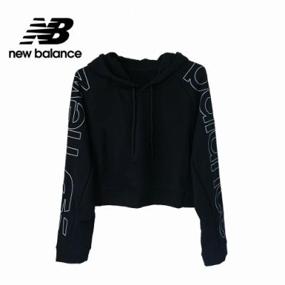 【New Balance】連帽短版長袖_女性_黑色_WT11515BK