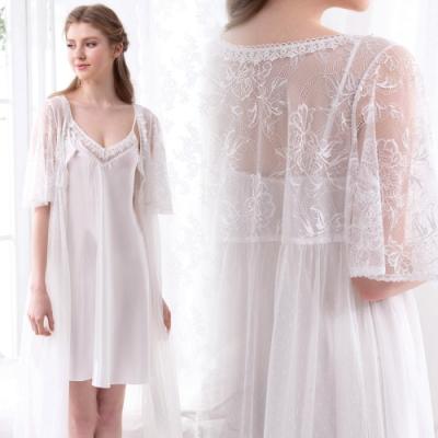 羅絲美-純淨之戀洋裝睡衣-白色