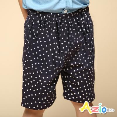 Azio Kids 男童 短褲 滿版星星後口袋貼布休閒短褲(藍)