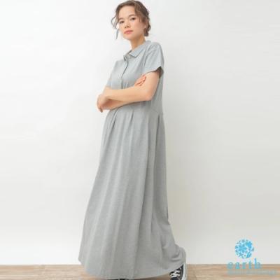 earth music POLO衫落肩剪裁棉質連身洋裝