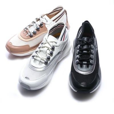 [時時樂限定]HANNFORT BUBBLES流線復古厚底跑鞋(三色任選)