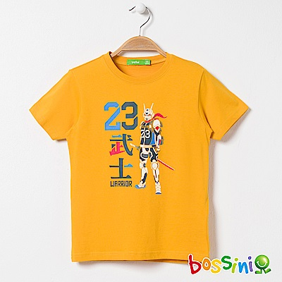 bossini男童-印花短袖T恤02亮橘