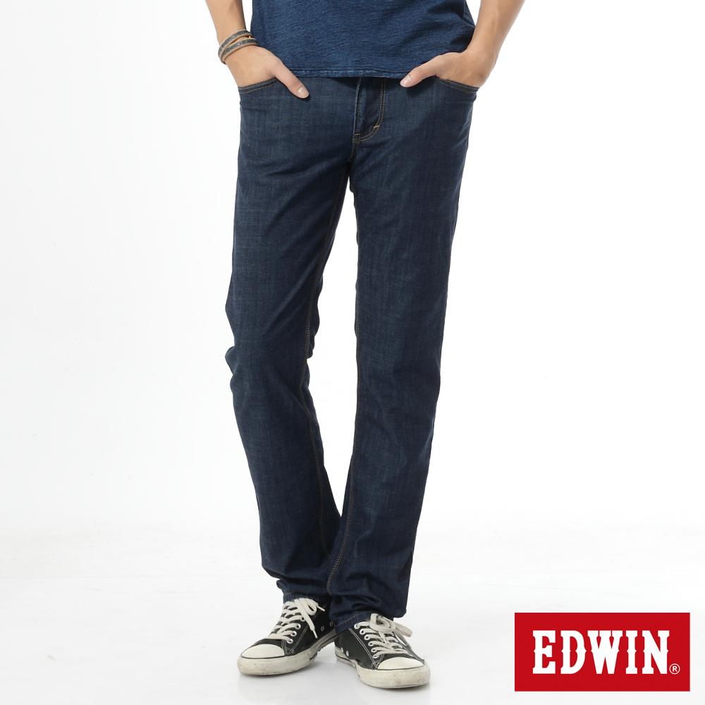 EDWIN 中直筒 EDGE輕爽COOL牛仔褲-男-原藍色