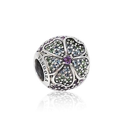 Pandora 潘朵拉 繽紛水晶花朵 純銀墜飾 串珠