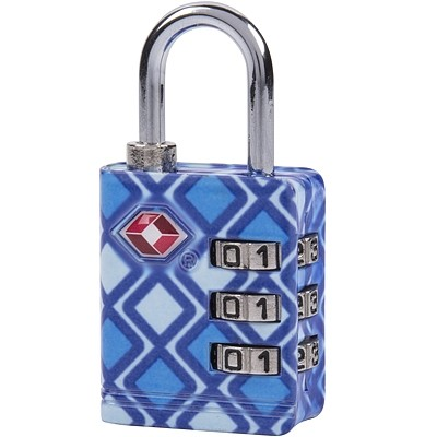 《TRAVELON》TSA三碼防盜密碼鎖(菱格)