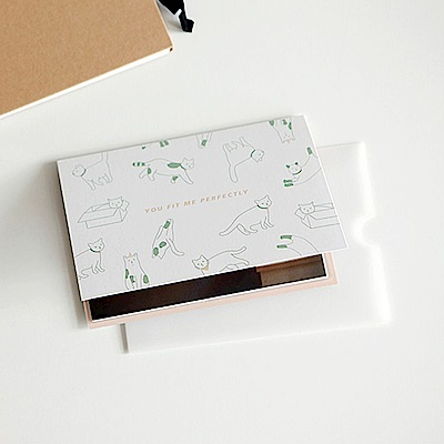 Dailylike動物樂園4x6相本萬用卡-02玩伴貓