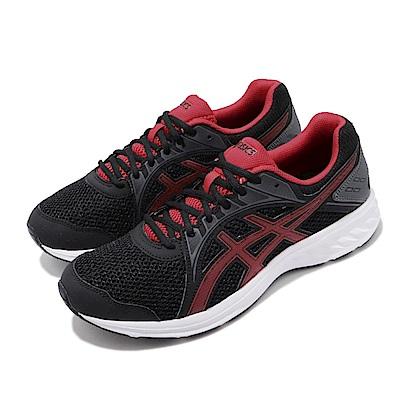 Asics 慢跑鞋 Jolt 2 4E 運動休閒 超寬楦 男鞋 亞瑟士 路跑 透氣 輕量 透氣 黑 紅 1011A206005
