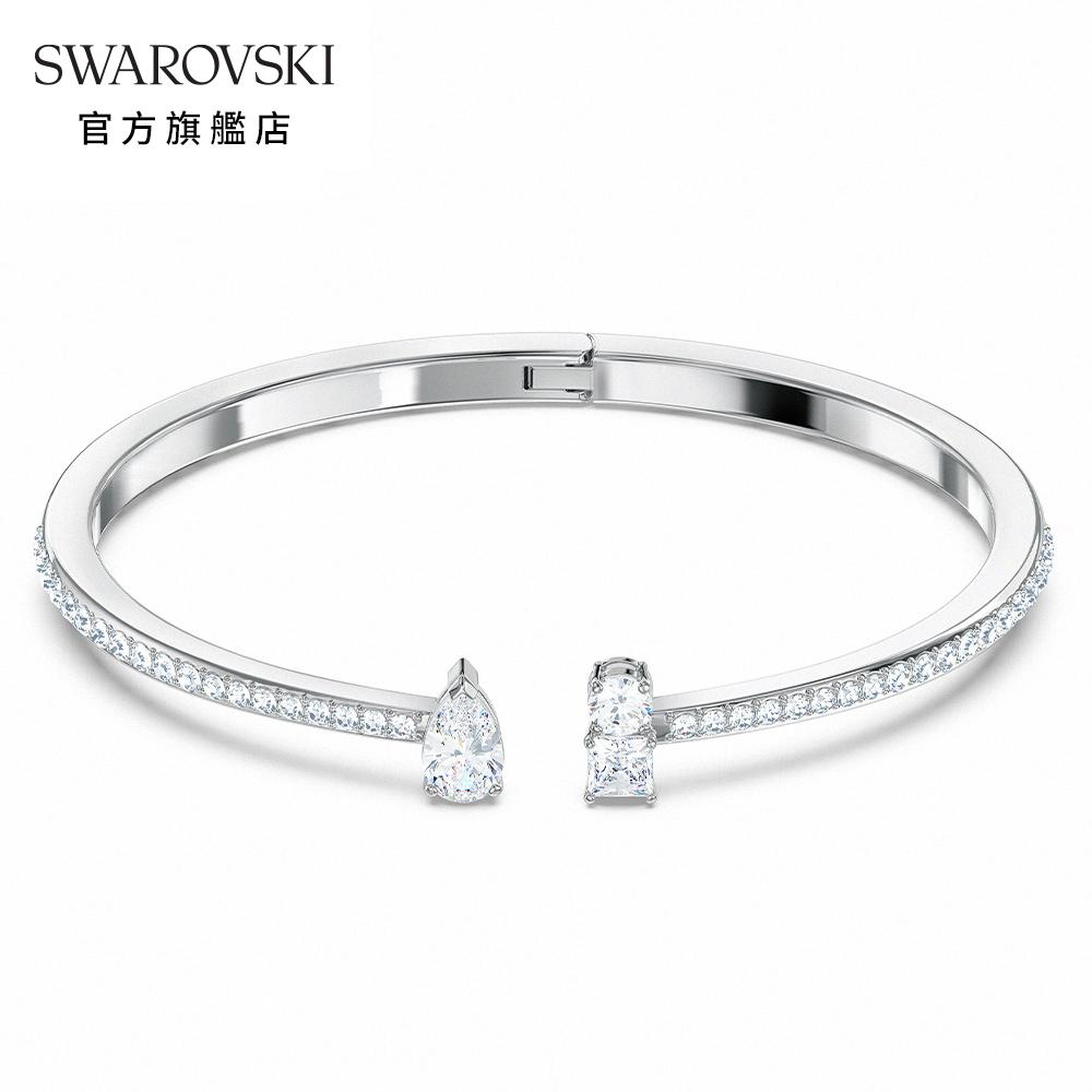 SWAROVSKI 施華洛世奇 Attract 白金色時尚簡約手環