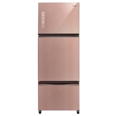 福利品 SAMPO聲寶 455L 1級變頻3門電冰箱 SR-A46GDV(P1)琉璃粉