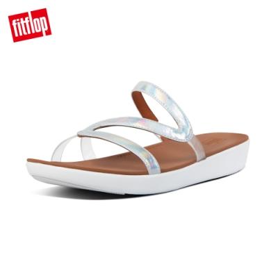 【FitFlop】PIPPA IRIDESCENT SCALE SLIDES造型涼鞋-女(都會白)
