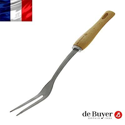 de Buyer畢耶 蜂蠟木柄系列-肉叉32cm