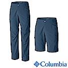 Columbia哥倫比亞 男款-防曬UPF50防潑二截式長褲-墨藍UAM1589