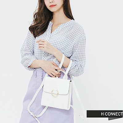 H:CONNECT 韓國品牌 -簡約後背方包-白