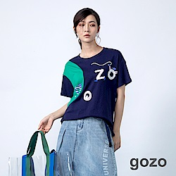 gozo 馬戲團系列配色色塊造型上衣(二色)