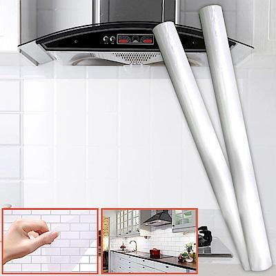 耐高溫透明廚房防油貼500M(2捲)贈自立式瀝水袋30入