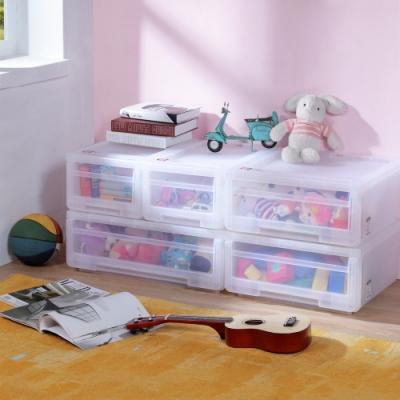 創意達人安居專利小家庭抽屜式整理箱附輪-5件組