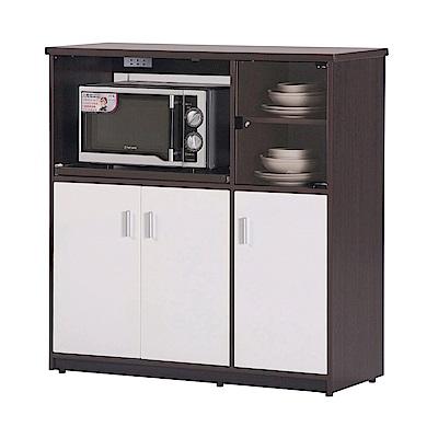 文創集 戴倫環保3.3尺塑鋼三門三格餐櫃(五色)-100x41x104cm-免組