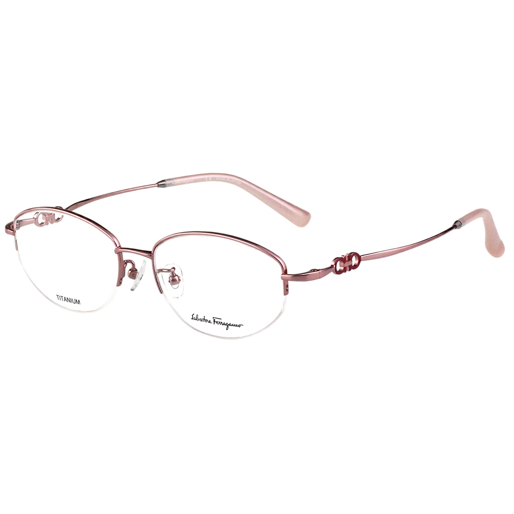 Salvatore Ferragamo 純鈦 光學眼鏡(玫瑰金)SF2558A