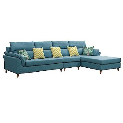 文創集 沙里L型獨立筒沙發(二向+二色可選)-322x182x94cm免組