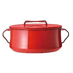 DANSK 琺瑯雙耳燉煮鍋2.2公升(紅色)