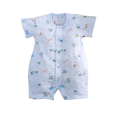 嬰兒純棉紗布短袖兔裝 b0182 魔法Baby