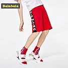 Balabala巴拉巴拉-側邊撞色條紋字母印刷休閒短褲-男(2色)
