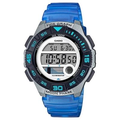 CASIO 潮汐與月相設計樂活休閒運動錶-藍(LWS-1100H-2A)40.6mm