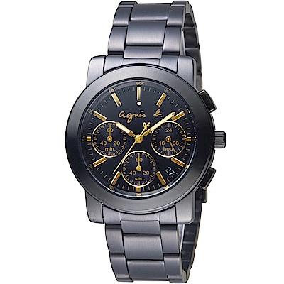 agnes b.都會迷幻時尚計時腕錶(BT3033X1)-38mm