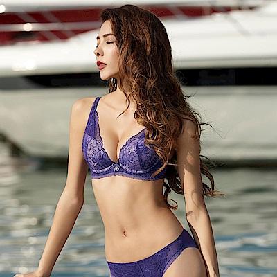 曼黛瑪璉 Marie One 刺繡蕾絲內衣  B-E罩杯(甜心紫)