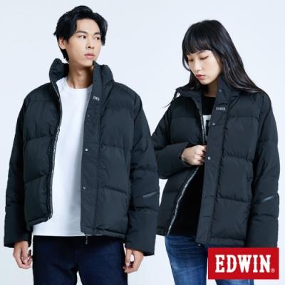 EDWIN EFS 立領寬壓線 羽絨外套-中性-黑色