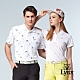 【Lynx Golf】女款吸濕排汗海灘風印花短袖POLO衫-白色 product thumbnail 1