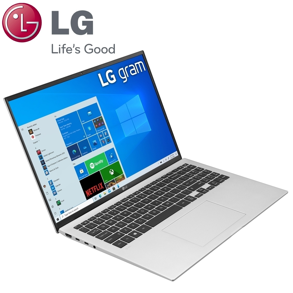 (含微軟365組合)【LG 樂金】Gram 16Z90P 16吋筆電-銀色(i5-1135G7/16G/512G SSD/16Z90P-G.AA56C2)
