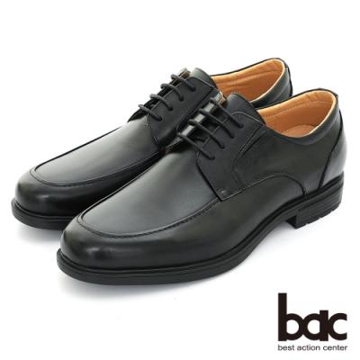 【bac】輕量舒適 真皮氣墊商務鞋-黑