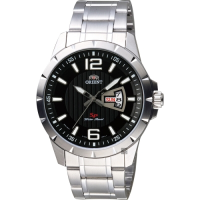 ORIENT東方 SP 系列 冒險家運動石英錶-黑x銀/44mm (FUG1X004B)