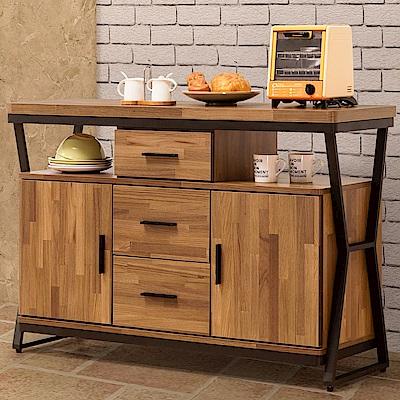 Homelike 德爾工業風4尺餐櫃-120x40x82cm
