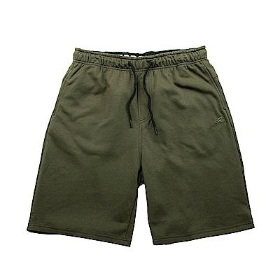 【ZEPRO】男子經典素面休閒短棉褲-深軍綠