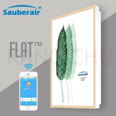 Sauberair 6-10坪 葉之拓印木框 智能控制空氣清淨機 FLAT-BT 台灣品牌 壁掛畫框式