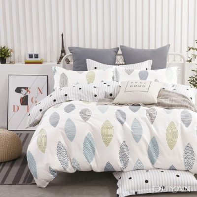 DUYAN竹漾-100%精梳純棉-單人三件式舖棉兩用被床包組-光年秘境 台灣製