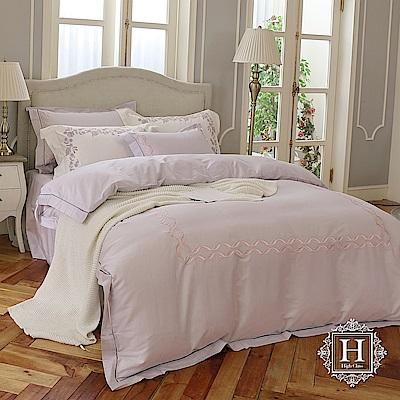 HOYA H Series寧靜夏日 特大四件式300織長纖細棉被套床包組(配加大被套)