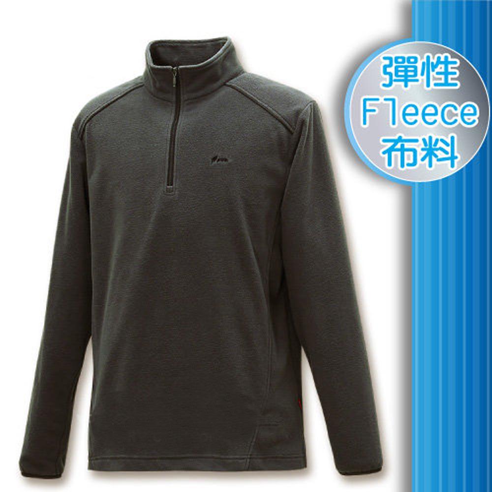 FIT 男款 雙刷雙搖保暖長袖上衣_FW1103 鐵礦灰 W