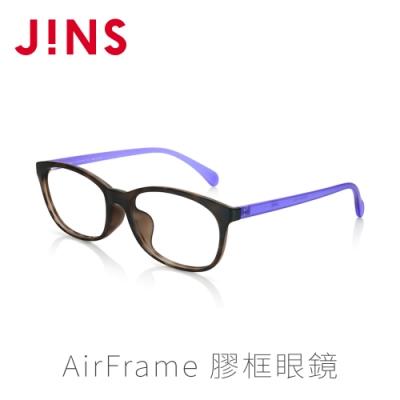 JINS AirFrame 膠框眼鏡(特ALRF16S025)木紋棕紫