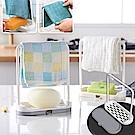 [時時樂限定][Ezlife]2入-創意廚房抹布海綿瀝水架
