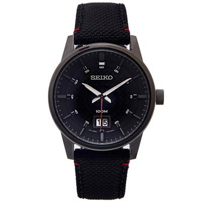 SEIKO 疾速競賽黑色手錶 (SUR271P1)-黑面/40mm