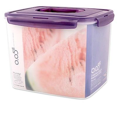 樂扣樂扣O.O5系列PP手提保鮮盒長方形7.1L-魅力紫(快)
