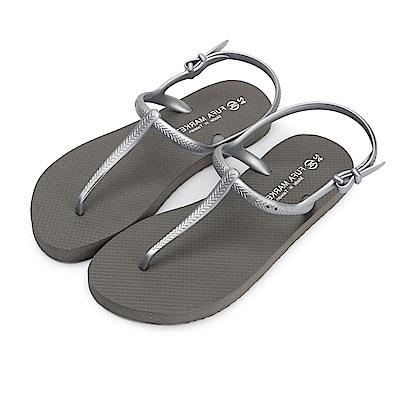 BuyGlasses 簡約時尚輕量防水涼鞋-灰
