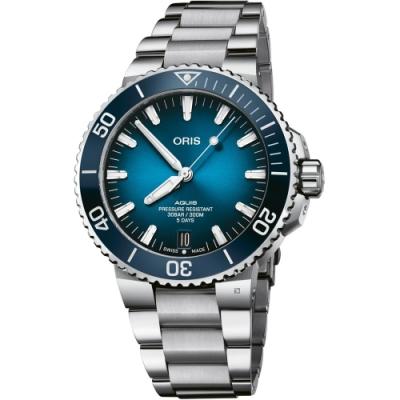 Oris豪利時 Aquis Calibre 400 日期潛水錶 0140077634135-0782409PEB-43.5mm