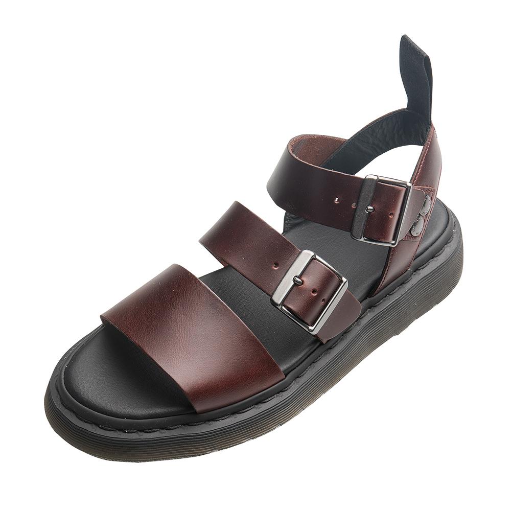 Dr.Martens GRYPHON 三條扣環寬帶涼鞋*暗紅色