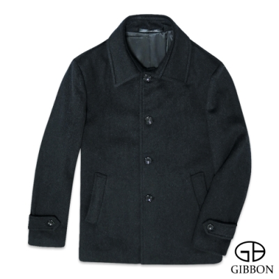 GIBBON 極簡舒適羊毛大衣外套-二色