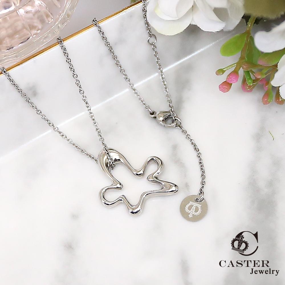 日本 凱斯特 CASTER 精靈在跳舞 時尚銀項鍊 防抗過敏 SUS316L頂級不鏽鋼飾品